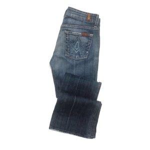 7 For All Mankind Jeans - 7FAM Swarovski Crystal A Pocket Flare Jean 19-0446